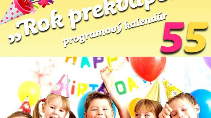 """""""Rok prekvapení"""" programový kalendár"""