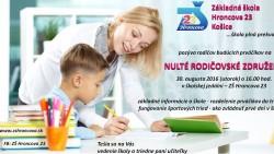 OZNAM – Nulté rodičovské združenie