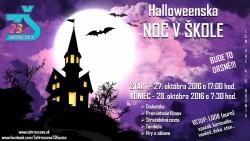 Halloweenska noc v škole …bude to drsné!