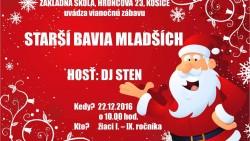 Starší bavia mladších – vianočná zábava – 22.12.2016
