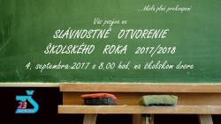 Slávnostné otvorenie školského roka 2017/2018 – POZVÁNKA