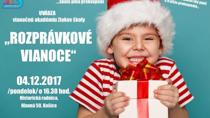 ROZPRÁVKOVÉ VIANOCE – POZVÁNKA na vianočnú akadémiu