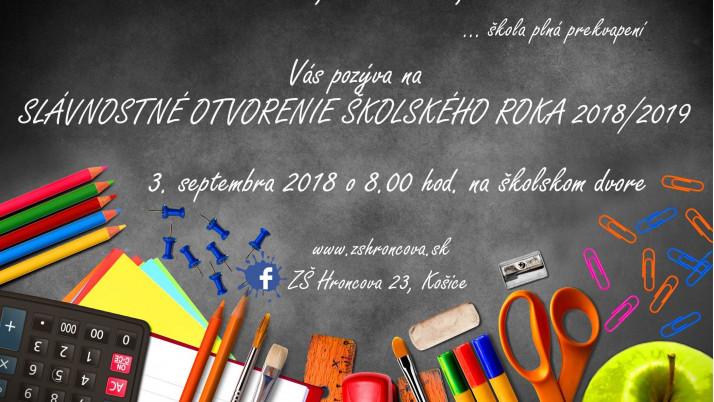 Slávnostné otvorenie školského roka 2018/2019 – POZVÁNKA