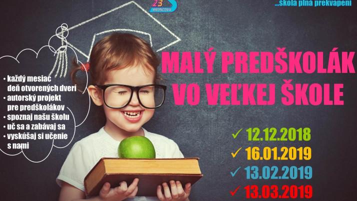 Malý predškolák vo veľkej škole – 2. stretnutie – 16.1.2019