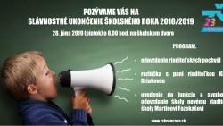Slávnostné ukončenie školského roka 2018/2019