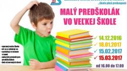 Malý predškolák vo veľkej škole – 4. stretnutie – POZVÁNKA