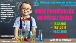 DOD – Malý predškolák vo veľkej škole – 4. stretnutie 14.3.2018 – POZVÁNKA