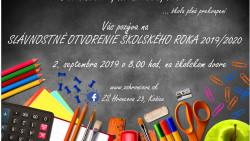 Slávnostné otvorenie školského roka 2019/2020 – POZVÁNKA