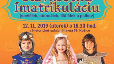 Slávnostná imatrikulácia prvákov – POZVÁNKA – 12.11.2019