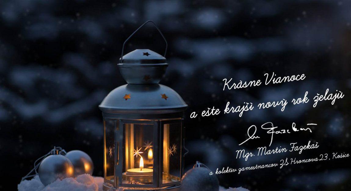 Krásne Vianoce a ešte krajší nový rok