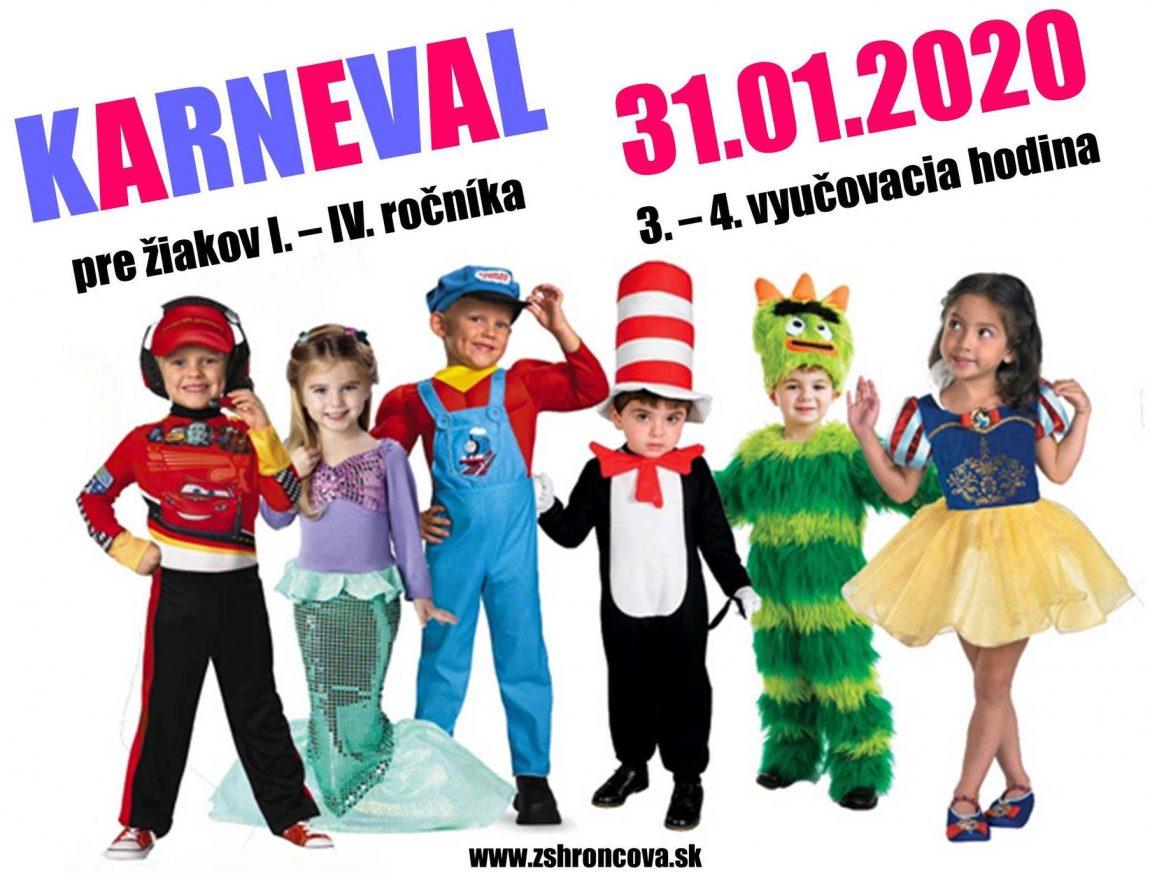 Karneval pre žiakov I. – IV. ročníka