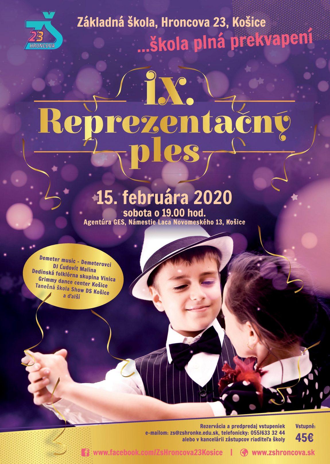IX. reprezentačný ples školy – POZVÁNKA