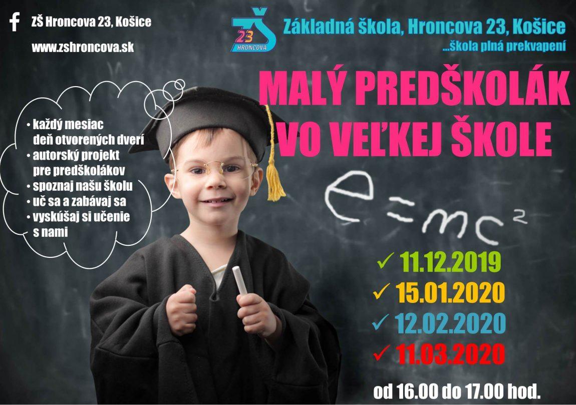 DOD – Malý predškolák vo veľkej škole – 12.02.2020 – POZVÁNKA