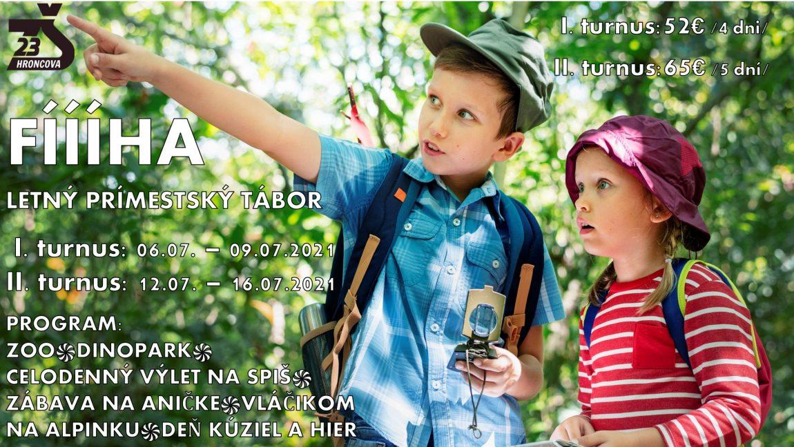 Letný prímestský tábor Fíííha 12.7. – 16.7.2021 – POKYNY
