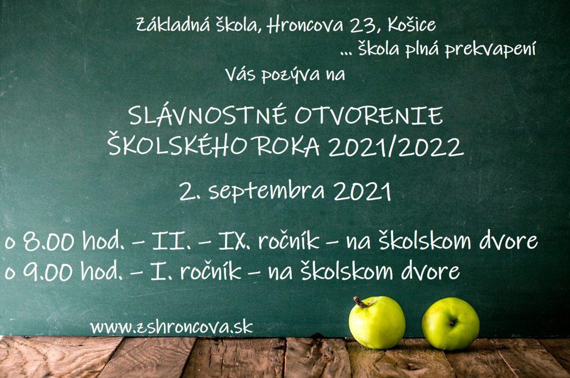 Začiatok školského roka 2021/2022 – organizácia, pokyny